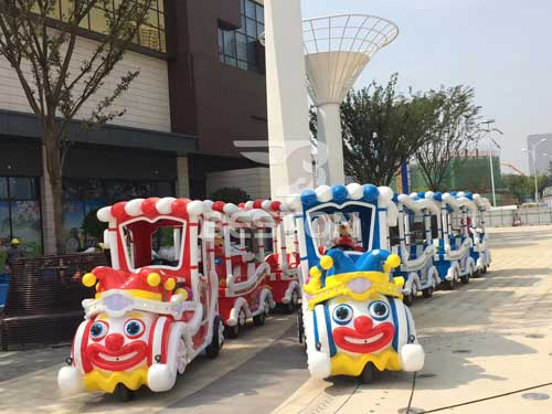 Clown Trackless Train for Kids