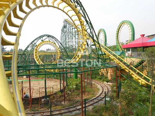 Four Loop Roller Coaster for Sale from Beston