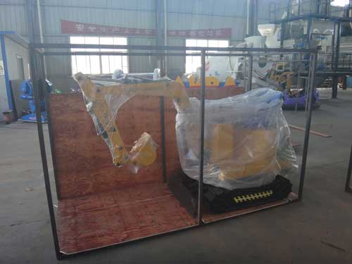 BNKE-06 Packing of Kids Excavator Rides for Sale