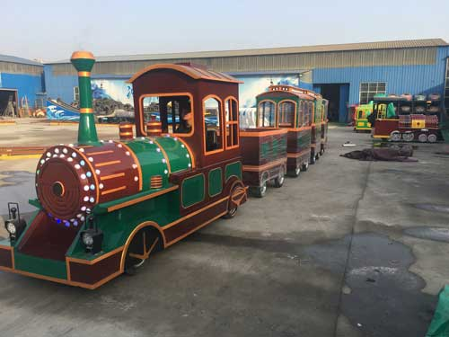 Vintage Trackless Train for South Africa