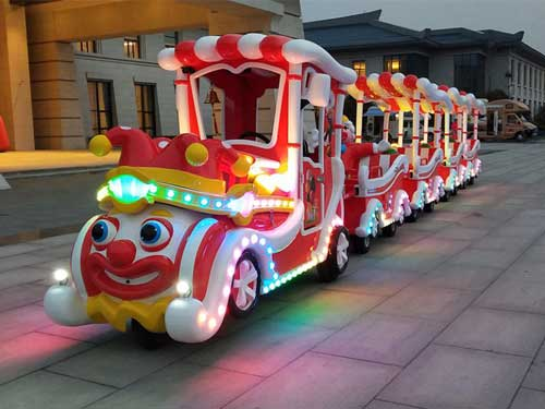 Clown Trackless Train Rides for South Africa