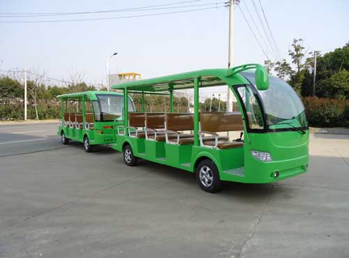 Green Trackless Train Rides for South Africa