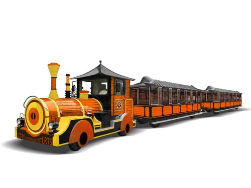 Yellow Big Trackless Train Ride for South Africa