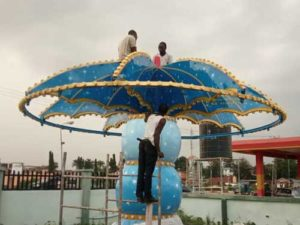 Mini Swing Rides Installed At Nigeria