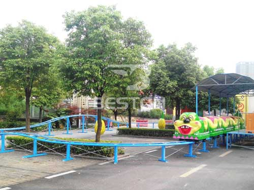 Kiddie Fruit Worm Roller Coaster for Nigeria