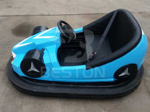 Blue Ground Grid Dodgem Cars