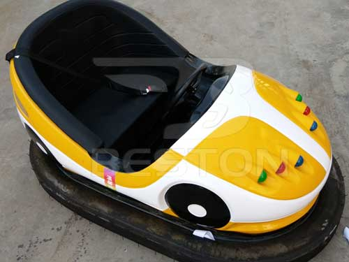 Yellow Battery Bumper Car Rides