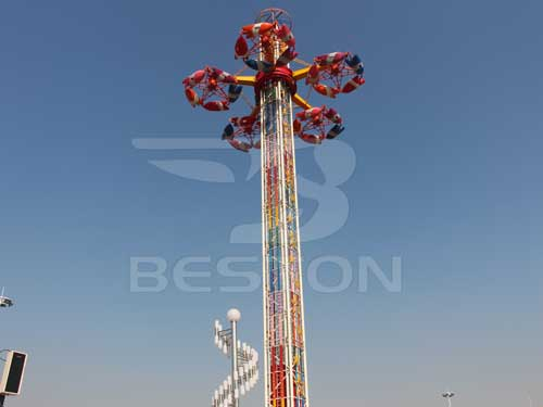 Large Thrill Drop Tower Rides