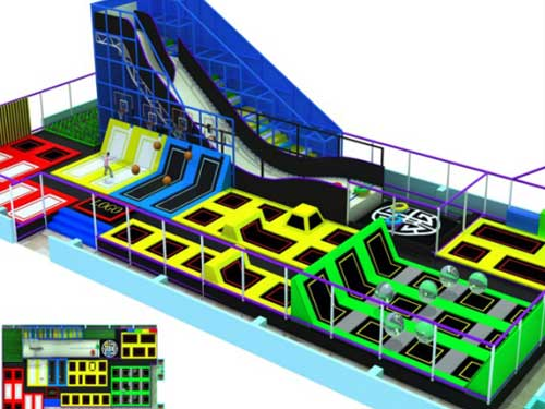 Large Trampoline Park Equipment for South Africa